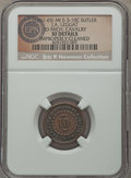 Civil War Tokens, (1861-65) J.A. Leggat, Third Michigan Cavalry, MI 3-10C --Improperly Cleaned -- NGC Details. XF. ...