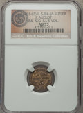 Civil War Tokens, (1861-65) I. August, 84th Regiment Illinois Volunteers, IL 84-5B,R.8, AU55 NGC. ...
