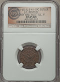 Civil War Tokens, (1861-65) J.C. Benton, 41st Regiment Illinois Volunteers, IL41-10C, R.6, XF45 NGC. ...