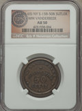 Civil War Tokens, (1861-65) William Vanderbeek, NY 158-50B, R.6, AU50 NGC. ...