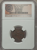Civil War Tokens, (1861-65) William W. Wood, Second Pennsylvania Artillery, PA 2-25C,R.6 -- Scratches -- NGC Details. XF....