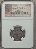 Civil War Tokens, (1861-65) G. McAlpin, 11th Pennsylvania Cavalry, PA 11b-5Ba, R.8,AU55 NGC. ...