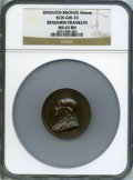 "Betts Medals, Undated ""1786"" Benjamin Franklin Natus Boston Medal, Betts-620,SCH. GM-33, Original Dies, MS63 Brown NGC...."