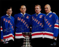 Hockey Collectibles:Photos, New York Rangers Legends Multi Signed Oversized Photograph. ...