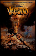 "Miscellaneous Collectibles:General, Chevy Chase ""National Lampoon's Vacation"" Signed Oversized Print...."