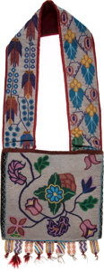 American Indian Art:Beadwork and Quillwork, Beaded Great Lakes Bandolier Bag....