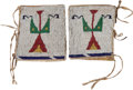 American Indian Art:Beadwork and Quillwork, Pair Sioux Beaded Cuffs. ... (Total: 2 Items)