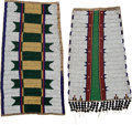 American Indian Art:Beadwork and Quillwork, Two Attractive Beaded Hide Panels.... (Total: 2 Items)