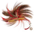 American Indian Art:Jewelry and Silverwork, Classic Dyed Horse Hair Roach. ...
