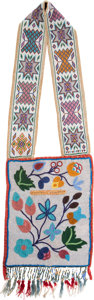American Indian Art:Beadwork and Quillwork, Great Lakes Beaded Bandolier Bag....
