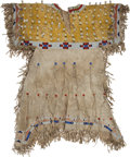 American Indian Art:Beadwork and Quillwork, Fine Southern Plains Beaded Girl's Hide Dress....