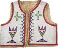American Indian Art:Beadwork and Quillwork, Sioux Beaded Child's Vest....