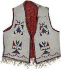 American Indian Art:Beadwork and Quillwork, Large Sioux Men's Beaded Vest. ...