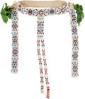 American Indian Art:Beadwork and Quillwork, Beaded Cloth Horse Headstall....