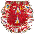 American Indian Art:Beadwork and Quillwork, Charming and Colorful Large Quilled Hided Drawstring Bag. ...