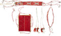 American Indian Art:Beadwork and Quillwork, Group of Quilled Hide Objects.... (Total: 5 Items)
