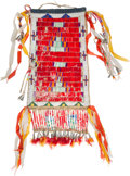 American Indian Art:Beadwork and Quillwork, A Fine Quilled and Beaded Hide Bag....