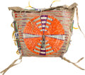 American Indian Art:Beadwork and Quillwork, Very Fine Sioux Quilled and Beaded Hide Teepee or Possible Bag....