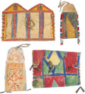 American Indian Art:Baskets, Four Parfleche Pouches with Flaps.... (Total: 4 Items)