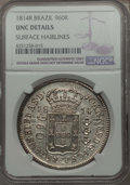 Brazil, Brazil: Joao as Prince Regent 960 Reis 1814-R UNC Details (SurfaceHairlines) NGC,...