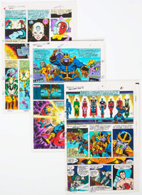 Jim Starlin and Joe Rubinstein Marvel Two-in-One Annual #2 Comic Page Color Guide Group of 3 (Marvel, 1977). ... (Total:...