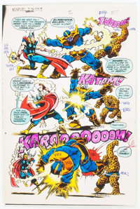 Jim Starlin and Joe Rubinstein Marvel Two-in-One Annual #2 Page 37 Color Guide (Marvel, 1977)
