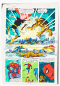 Memorabilia:Comic-Related, Jim Starlin and Joe Rubinstein Marvel Two-in-One Annual #2 Page 38 Color Guide (Marvel, 1977)....
