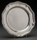 Silver Holloware, British:Holloware, A John Parker I & Edward Wakelin George III Silver Salver,London, England, circa 1761. Marks: (lion passant), (crownedleop...