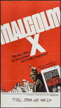 "Movie Posters:Documentary, Malcolm X (Warner Brothers, 1972). One Sheet (25"" X 44""). Documentary.. ..."