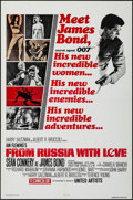 "Movie Posters:James Bond, From Russia with Love (United Artists, R-1980s). One Sheet (27"" X41""). James Bond.. ..."