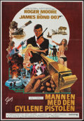 "Movie Posters:James Bond, The Man with the Golden Gun (United Artists, 1974). Swedish One Sheet (27.5"" X 39.5""). James Bond.. ..."