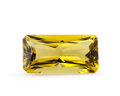 Gems:Faceted, Gemstone: Lemon Quartz - 16.29 Ct.. Brazil. 23 x 11.9 x8.9 mm. ...