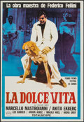 """Movie Posters:Foreign, La Dolce Vita (Rizzoli, R-1970s). Argentinean One Sheet (29"""" X 42.5""""). Foreign.. ..."""