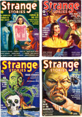 Pulps:Horror, Strange Stories Group of 4 (Better Publications, 1939-40)Condition: Average VG/FN.... (Total: 4 Comic Books)