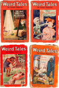 Pulps:Horror, Weird Tales Group of 4 (Popular Fiction, 1927) Condition: AverageFR.... (Total: 4 Comic Books)