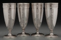 Silver Holloware, American:Vases, Four Tiffany & Co. Silver Art Deco Goblet Vases, New York, NewYork, circa 1907-1947. Marks: TIFFANY & CO., 6445, MAKERS,... (Total: 4 Items)