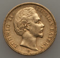 German States:Bavaria, German States: Bavaria. Ludwig II gold 20 Mark 1872-D VF -Cleaned,...