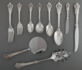 Silver Flatware, American:Wallace , A Fifty-Five-Piece Wallace Grande Baroque Pattern SilverFlatware Service for Eight with Serving Pieces, Walling... (Total:55 Items)