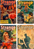 Pulps:Horror, Strange Stories Group of 4 (Better Publications, 1939-41)Condition: Average FR/GD.... (Total: 4 Comic Books)