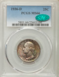 Washington Quarters, 1936-D 25C MS66 PCGS. CAC....