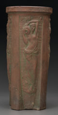 Ceramics & Porcelain, American:Modern  (1900 1949)  , A Peters & Reed Terracotta Umbrella Stand by Frank Ferrell,Zanesville, Ohio, circa 1912. Marks: (impressed marks),Ferrel...