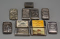 Silver Smalls:Match Safes, A Group of Eleven Assorted Silver and Silver-Plated Match Safes,circa 1890-1910. 3-7/8 inches high (9.8 cm) (average). ... (Total:11 Items)