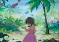 Animation Art:Production Cel, The Jungle Book The Little Girl Production Cel (Walt Disney,1967)....
