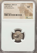 Ancients:Greek, Ancients: THESSALY. Tricca. Ca. 440-400 BC. AR hemidrachm....