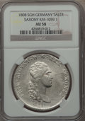 German States:Saxony, German States: Saxony. Friedrich August I as King Taler 1808-SGH AU58 NGC,...