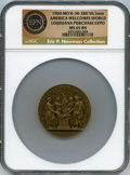 Expositions and Fairs, 1904 Louisiana Purchase, America Welcomes the World, H. 30-280.MS65 Brown NGC. ...