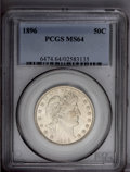 Barber Half Dollars: , 1896 50C MS64 PCGS. Well struck, untoned, and satiny, with somewhatmuted luster and a minimum of contact marks. From one o...