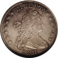 Early Dollars: , 1801 $1 AU53 NGC. B-1, BB-211, R.3. Bowers Die State V. Medium graywith traces of luster in ...