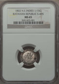 Netherlands East Indies, Netherlands East Indies: Batavian Republic 1/16 Gulden 1802 MS65NGC,...