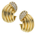 Estate Jewelry:Earrings, Diamond, Gold Earrings, Piaget. ...